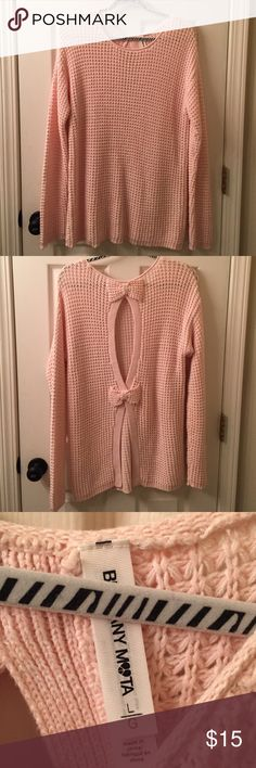 NWOT sweater Bethany Mira pink sweater in perfect condition! bethany mota Sweaters