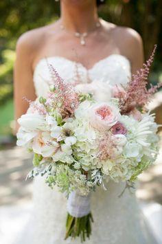 astilbe, babys breath, carnations, dahlia, garden rose bouquet - Google Search
