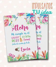 Tarjeta de 15 tropical - Invitación de 15 Hawai