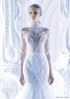 #Futuristic #wedding #dress    F&L's Futuristic Wedding http://www.pinterest.com/FLDesignerGuide/futuristic-wedding/
