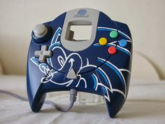 Custom Sonic Controller - Sega Dreamcast Game Pad by Oskunk