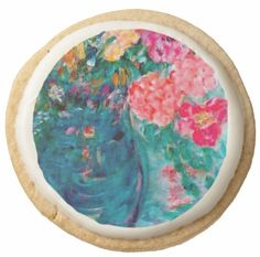 Romance Designer Art Flowers Gift Collection: Art Designed Gourmet Edibles & Home Decor - Our Top Picks - Romance Flowers Whimsical Art Designed Shortbread Cookies by Marie-Jose Pappas of Innocent Originals