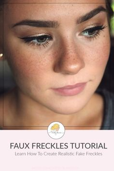 Want to learn how to make fake freckles? This tutorial teaches you how to get a sunkissed look in a few easy steps. How exactly to Fake Freckles with Makeup: How To Get Freckles, Fake Freckles, Freckles Makeup, Makeup Tricks, Makeup Dupes, Makeup Ideas, Makeup Inspiration, Wedding Makeup Tips, Bridal Makeup