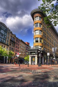 Vancouver's Gastown, British Columbia, Canada | by Brandon Godfrey, via Flickr We'll be staying near here.