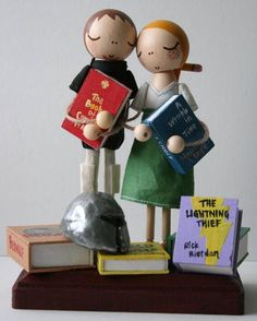 Custom Love in the Library Wedding Cake Topper from Etsy