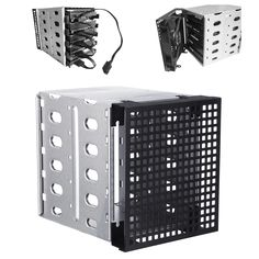 1 x HDD Hard Drive Cage Rack. -Holding Hard Drive Size let you extend 5 Hard Drive easily! 10 X HDD Install Brackets. -With Cooling Fan Install Slot space. We will try our best to reduce the risk of the custom duties. Pc Cases, Uganda, Cage, Hard Drive Caddy, Disco Duro, Taiwan, Locker Storage, Philippines, Ebay