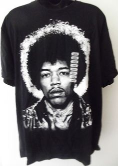 Sold!!  Jimi Hendrix Big Afro Hair Graphic Print T-Shirt NWT Men's Size Large.