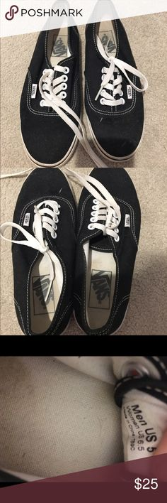 🆕 vans Black vans in perfect condition, maybe worn once or twice Vans Shoes Sneakers