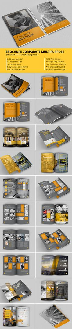 Brochure Corporate Multipurpose by feydesign on @creativemarket