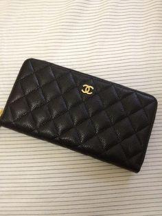 Chanel caviar zip around wallet. Ooooooooooooo. :)
