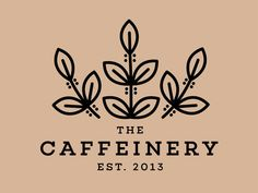 The Caffeinery Logo Design by Maddie Starke at Ginger Snap Design #logodesign  #branding #logodesign