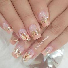 Romantic Nails, Elegant Nails, Classy Nails, Fancy Nails, Stylish Nails, Cute Nails, Pink Acrylic Nails, Pink Nails, Gel Nails