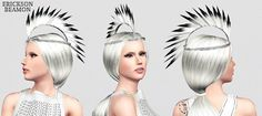 Feather Mohawk plus Apron Front Pleated Dress by ArtSims for Sims 3