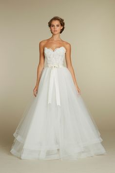 I LOVE this dress, but I would personally want spaghetti straps since I don't want my wedding gown to be strapless.