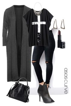 """""""plus size dark and edgy"""" by kristie-payne ❤ liked on Polyvore featuring мода, Manon Baptiste, ASOS Curve, H&M, Wet Seal, Atmos&Here, ADORNIA и NARS Cosmetics"""