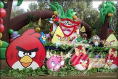 Angry Birds #Themed #Birthday Party #Planner and decoration by www.thematicbirthdayplanner.com a part of www.tulipsevent.com