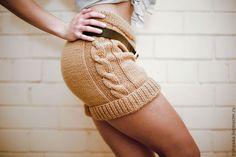 Knitted shorts / Брюки, шорты ручной работы. Ярмарка Мастеров - ручная работа. Купить Шорты вязаные  женские