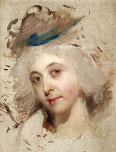 """Portrait head of a lady"" by Sir Thomas Lawrence (1769–1830)"