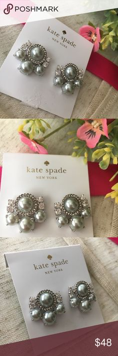 🆕 Kate Spade Grey Pearls Of Wisdom Stud Earrings These stunning Kate Spade Grey Pearls Of Wisdom Stud Statement Earrings are brand new with tags and never worn! Absolutely gorgeous earrings! Received as a gift and have never worn so deciding to let them go. Please note earring backs are different (see pic) this is how I received them. 14K Rhodium Plated. 0.8 in. L. Offers welcome but don't delay, Kate Spade sells quick! ♠️ kate spade Jewelry Earrings