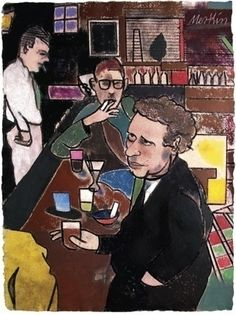 Dylan Thomas (by Richard Merkin) Dylan Thomas, A Beast, The Orator, My Poetry, The New Yorker, Portrait Photo, Historian, Welsh, Writers