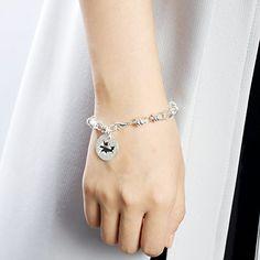 Amazon.com: SILVERAGE Sterling Silver Memory Circle Disc Link Bracelet: Jewelry