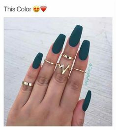 A manicure is a cosmetic elegance therapy for the finger nails and hands. A manicure could deal with just the hands, just the nails, or Acrylic Nail Art, Acrylic Nail Designs, Nail Art Designs, Acrylic Nails Coffin Matte, Matte Green Nails, Acrylic Nails Green, Pink Coffin, Acrylic Nails For Fall, Matte Nail Colors