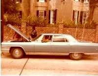 Professor Longhair's car with three unidentified men