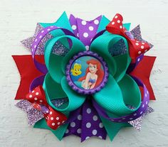 The+Little+Mermaid+Ariel+Hair+Bow+/+Ariel+by+DLovelyBOWtique,+$10.00