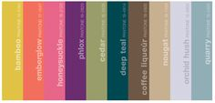 Fall 2011 Pantone Palette −The Art of Color −  Sensible and Spirited