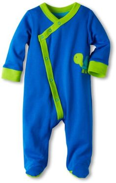 Offspring  Baby Apparel Babyboys Newborn Turtle Footie Blue 3 Months >>> Be sure to check out this awesome product.