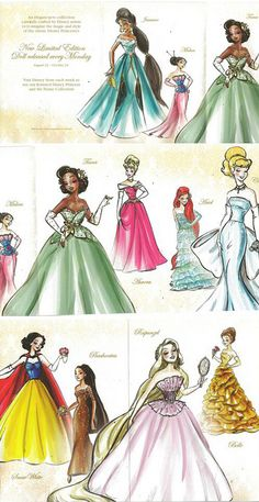 Disney Princess Couture. Ariel's dress is my favorite!!