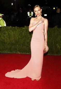 Kate Bosworth.. Stella McCartney custom pink gown, Ana Khouri and Sidney Garber jewels, with Jimmy Choo clutch..