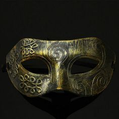 Men Burnished Antique Silver/Gold Venetian Mardi Gras Masquerade Party Ball Mask