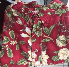 Men's Hilo Hattie 2XL Christmas Poinsettia Shirt Red Holiday Beach Hawaii USA  | eBay