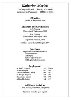 example of registered nurse resume httpexampleresumecvorgexample