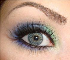 Blue & green eyeshadow. lovely