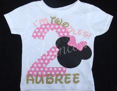 I'm Twodles - Minnie Mouse birthday shirt - 2 year old birthday girl - second birthday shirt - Minnie Mouse second birthday shirt by OnceUponATwincess on Etsy https://www.etsy.com/listing/252157740/im-twodles-minnie-mouse-birthday-shirt-2