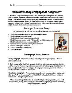 Political persuasive essay topics