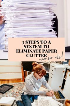 How to Eliminate Paper Clutter With A System - The Minimal-ish Mama