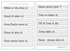 ''m '' Sesi Cümle Yazma Çalışmaları - Seyit Ahmet Uzun – Eğitime Yeni Bir Bakış