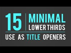 Lower Third Animation Pack - After Effects (Motion Graphics) - YouTube