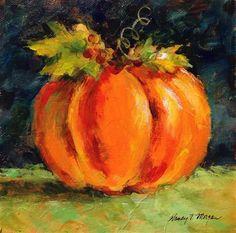 "Daily Paintworks - ""Pumpkin"" - Original Fine Art for Sale - © Nancy F. Morgan"