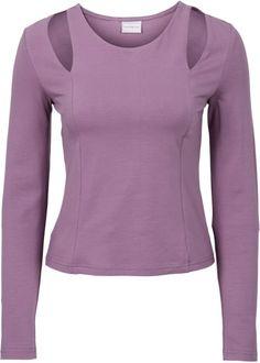 Longsleeve, RAINBOW licht paars longsleeve top shirt cut out look light purple