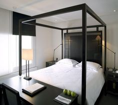 blakes hotel | amsterdam | by anoushka hempel - colours, using the head board as a divider. Desk Placement