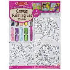 Melissa & Doug Canvas Painting Set, Princess, Multicolor