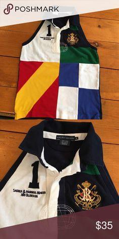 Ralph Lauren sleeveless polo Ralph Lauren sleeveless polo. Never worn. Ralph Lauren Tops Button Down Shirts
