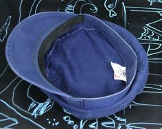 French Casquette Fisherman Breton HAT Baker BOY Mariner Indigo Denim Chore Work | eBay