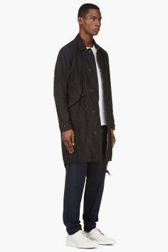 MIHARA YASUHIRO Deep Navy Taffeta coat