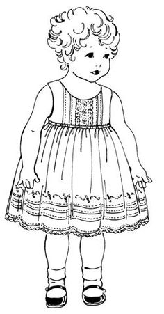 toddler summer dress pattern by Old Fashioned Baby Mode Vintage, Vintage Girls, Vintage Children, Vintage Sewing, Embroidery Tools, Embroidery Patterns, Sewing For Kids, Baby Sewing, Vintage Colors