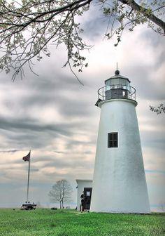 Turkey Point Lighthouse, Chesapeake Bay, Maryland; photo by Mark Fuller